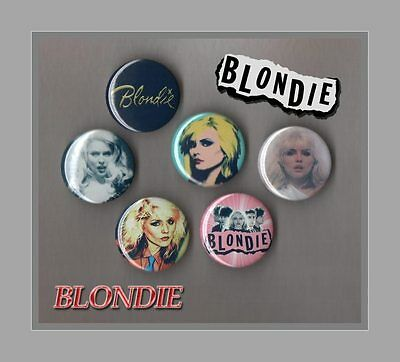 Blondie - Debbie Harry  6 X 31 mm Button Badges Set 3