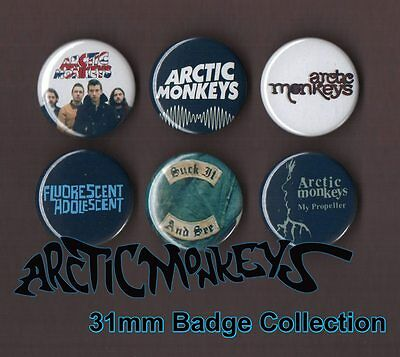 The Arctic Monkeys 31mm Badge Collection Set 3 Alex Turner FREEPOST