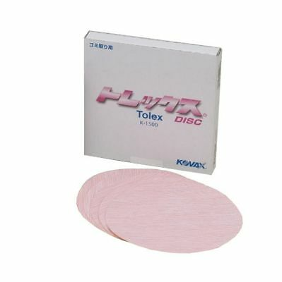 Kovax Tolex disc K-1500 50discs dry sanding sandpaper 150 diamater without hole