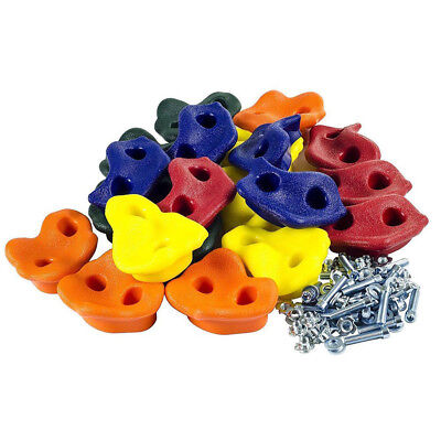KE_Kids Rock Wall Climbing Hand Holds Set Outdoor Playground with Screw Reliable