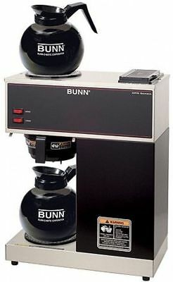 Restaurant Coffee Maker 12 Cup Brewer For Office Bunn Commercial Grade 2 Pots