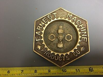 Vintage Brass Ashtray EARNEST MACHINE PRODUCTS CO. Nuts, Diamonds & Bolts