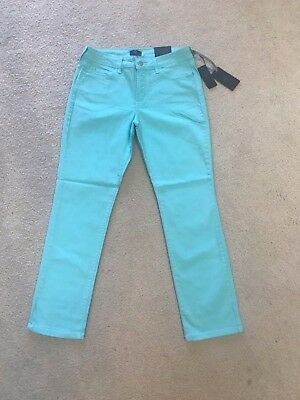 NWT NYDJ Not Your Daughters Jeans SKINNY CHVBL AQUA 5 Pocket Denim $104 Size 14P