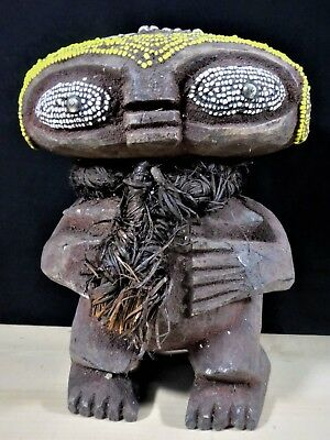 Beautiful Rare Beaded Pygmy Figure With Cowries Cameroun  AFrica Fes-Gb1191