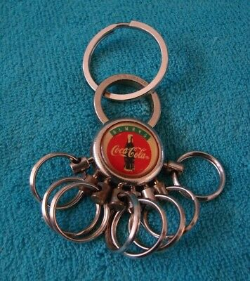 Vintage & RARE Coca-Cola Keychain with multiple Rings