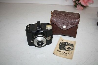 Vintage Agfa Clack 69 Camera With Book And Case