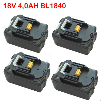 4 Pack 18V 4.0Ah Replacement for Makita Battery Li-Ion BL1830 BL1815 BL1840 US