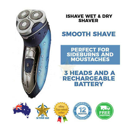 Mens Electric Shaver Rechargeable Waterproof Wet and Dry Beard Cordless