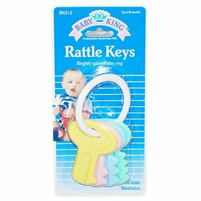 Baby King Rattle Keys, Assorted Colors 1 Pack