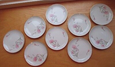 Vintage Royal Court Fine China Carnation Japan 9 EACH Bread Plates 6 1/4""