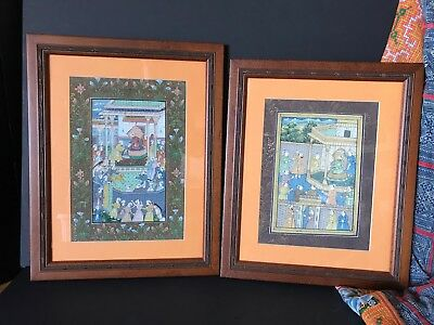 Old Persian Framed Paintings a Matched Pair …beautiful display, accent, coll...