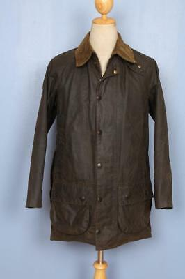 Mens BARBOUR Moorland WAXED Jacket Olive Size 36