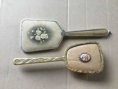 Make An Offer!!  Vintage Vanity Brush And Hand Held Mirror