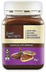 Sweet William Choc Spread G/F 385g Organic Gluten Free Health Food