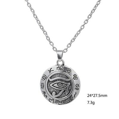 Eye of Ra Pendant Necklace Wadjet Horus Khemetic Egyptian Pagan Solar God