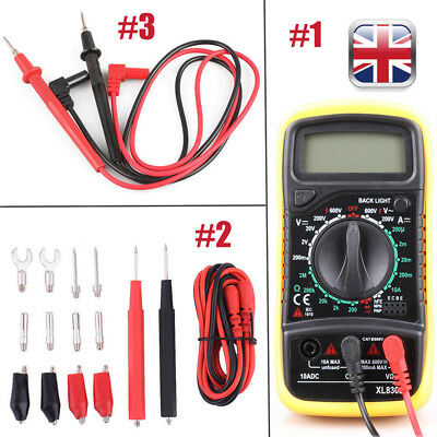 LCD Digital Multimeter Volt meter AC DC Voltage Tester Leads Set Circuit Checker