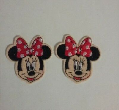 New Disney Minnie Mouse RED Embroidered Patch - Applique  Iron-on / Sew On Red