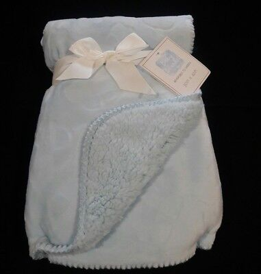 Personalized Minky & Sherpa Textured Baby Blanket -Select From Grey/blue/cream