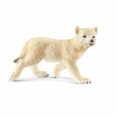 Arctic Wolf Cub Sealed Toy Figurine Hand-Painted Highly Detailed New Decor