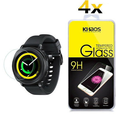 4-Pack Khaos For Samsung Gear Sport Smartwatch Tempered Glass Screen Protector