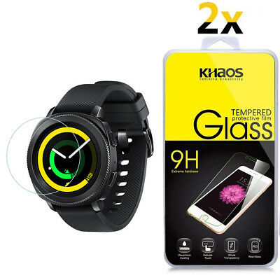 2-Pack Khaos For Samsung Gear Sport Smartwatch Tempered Glass Screen Protector