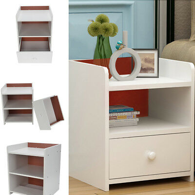 Bedside Table Cabinets Shabby Chic Wooden Bedroom Night Stand 2 Storage Drawers