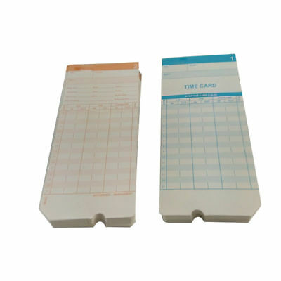100X Monthly Time Clock Cards for Attendance Payroll Recorder Timecards bo