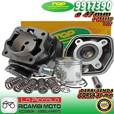 9917390 GRUPPO TERMICO CILINDRO TOP GHISA ø47 GILERA GSM RCR SMT 50 2T