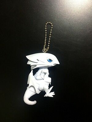 Yugioh Blue Eyes White Dragon Kaiba Figurine Figure Keychain Ball Chain Strap