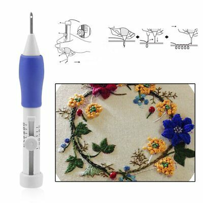 DIY Sewing Stitching Punch Needle Set Punching Newest Embroidery Craft Tool Q#