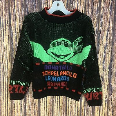 Vintage Teenage Mutant Ninja Turtles Sweater 5/6 Tmnt 1990 Retro Baggy