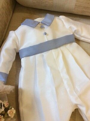 Boys Christening Gown - Baptism Romper Suit - Boys Outfit - Naming - Dedication