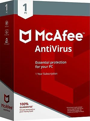 McAfee AntiVirus Plus 2019 1 PC / 1Jahr Vollversion Antivirus