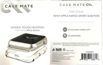New Original CASE-MATE Naked Tough Clear Bumper Case Cover for Apple Watch 42MM