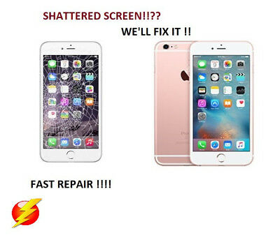 Apple iPhone 6 Cracked/Screen Glass  lcd Repair replacement Service!!