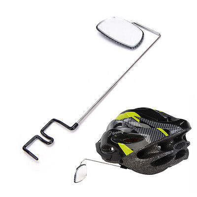 Bike Bicycle Cycling Riding Mirror Helmet Mount Rearview Rear View Eyeglass JO