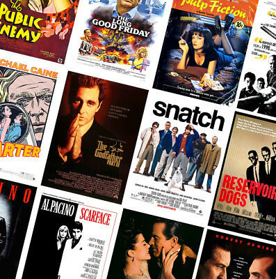CLASSIC VINTAGE GANGSTER MOVIE POSTERS - A4 A3 A2 - GoodFellas, Scarface, Heat