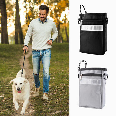 Pet Treat Bag Dog Puppy Snack Pouch Carrier Obedience Training Walking Dispenser