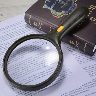 1.8x 5x Magnifier Double Magnification Large Magnifying Lens with 3 LED FA321