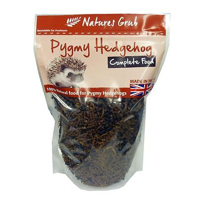 Natures Grub African Pygmy Hedgehog Food 600g, Mealworms Complete Diet Crickets