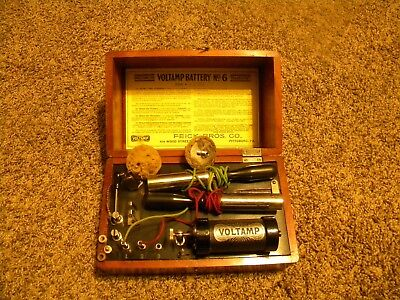 Antique 1900 Feick Bros, Pittsburg Voltamp Medical Battery No. 6 Quack Machine