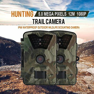 12MP HD Trail Hunting Camera Infrared LED Wildlife IR Night Vision Farm JY