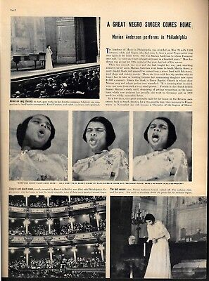 1938 Marian Anderson Academy Music Philadelphia Photos Article Text Print