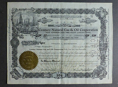 Century Natural Gas & Oil Corporation  1952  1000 Shares