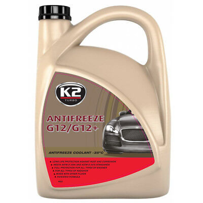 RED ANTIFREEZE & COOLANT | 5 LITRE | -35 ºC | Longlife | G12 | 5L