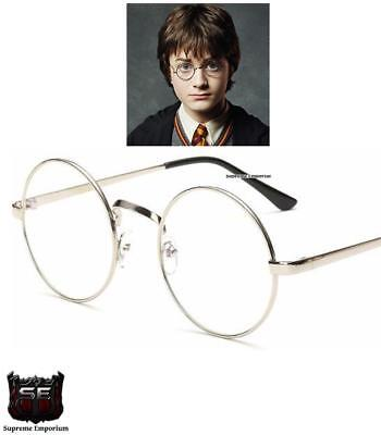 Adults / Kids Metal Round Frame Harry Potter Fancy Dress Glasses Book Week Day