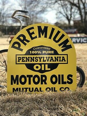 Antique Vintage Old Style Premium Pennsylvania Motor Oil Sign