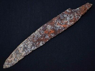Ancient Viking Iron KNlFE. Rare Norse Rusty BIade, circa 950-1000 AD. Cleaned.