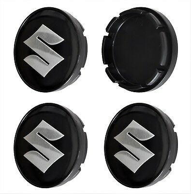 SUZUKI 4pcs. 55/52mm Wheel Centre Caps Rim Hub Covers Auto Logo Emblem