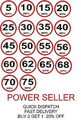 Slow Speed Limit Safety Traffic Construction Sign Sticker 5 10 15 20 25 30 50 70